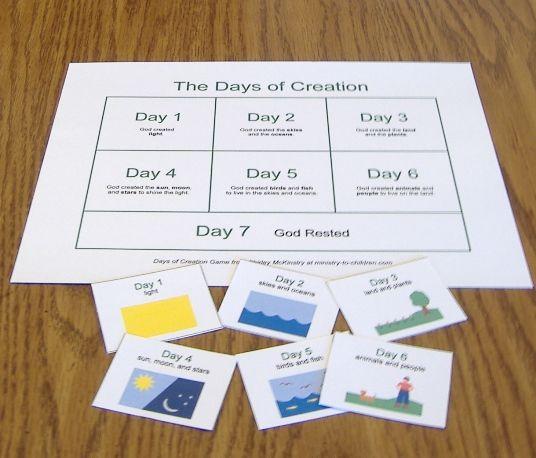 Days of Creation Matching Game
