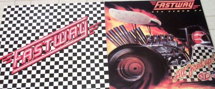 Fastway - 2 (Two) CBS Records Promo Posters - Fast Eddie Clarke - All Fired Up #PeteWay #Fastway #Motorhead
