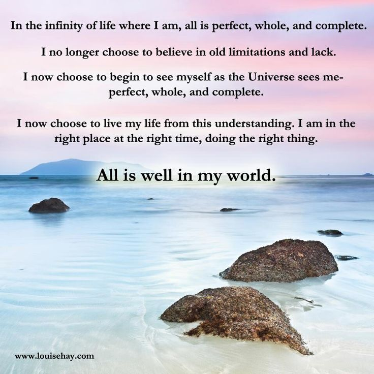 Image result for louise hay quote in the infinity of life where i am