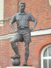 Johnny Haynes at Craven Cottage home of Fulham FC.