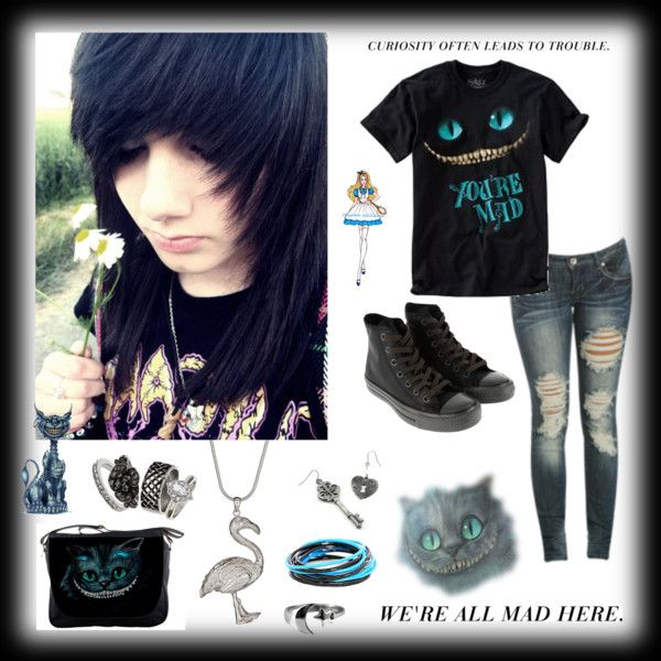 """""""You're Mad"""" by carissa-chaos  on Polyvore I want the hairstyle also c:"""