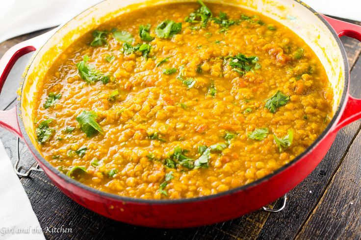 This easy and delicious yellow lentil dal is full of protein and bright flavors! Great served over fragrant Basmati rice for a quick and healthy mid-week meal!