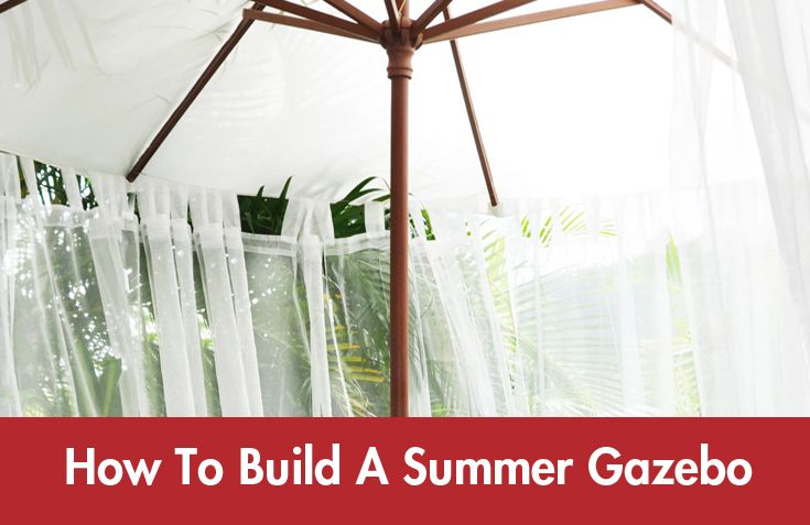 Create a tranquil #gazebo area in your backyard by following these simple instructions. #Summer #DIY