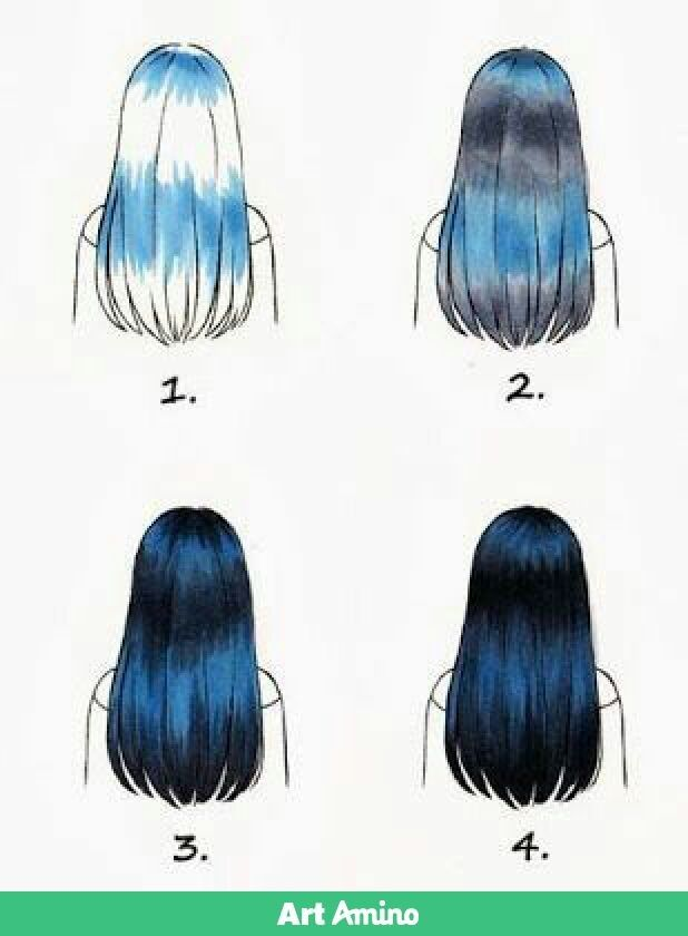 Black hair highlight   Drawings, Marker art, How to draw hair