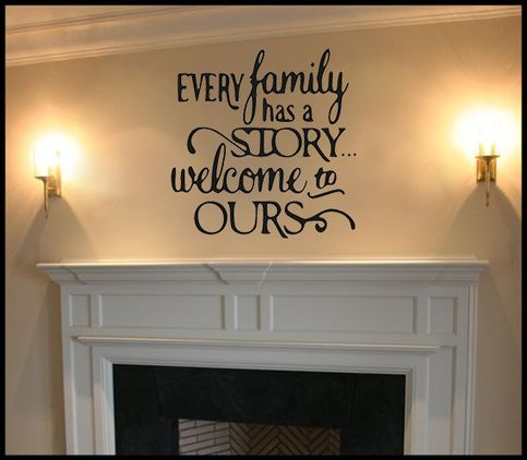 Every Family Has A Story Vinyl Wall Decal, Living Room Decal, Family Room  Decal, Family Wall Decal, Living Room Wall Decal, Saying Decal