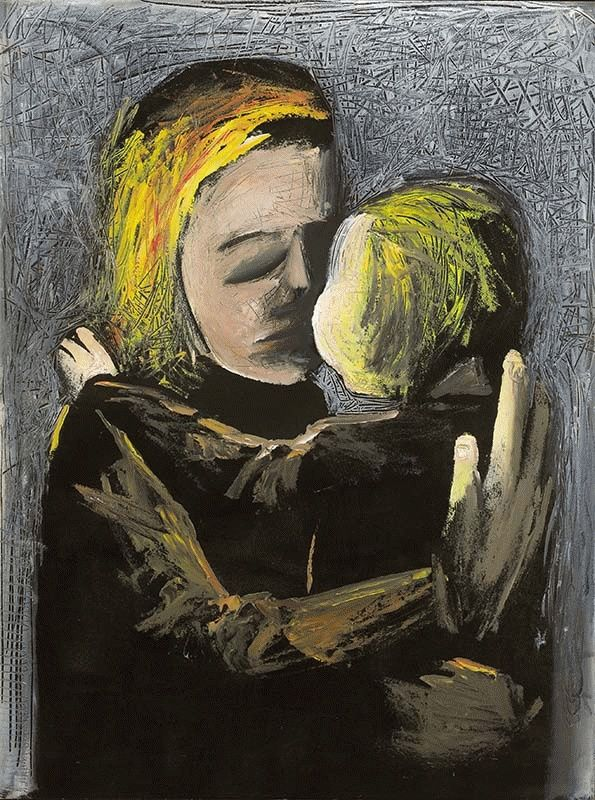 Mother and Daughter 1961 Charles Blackman