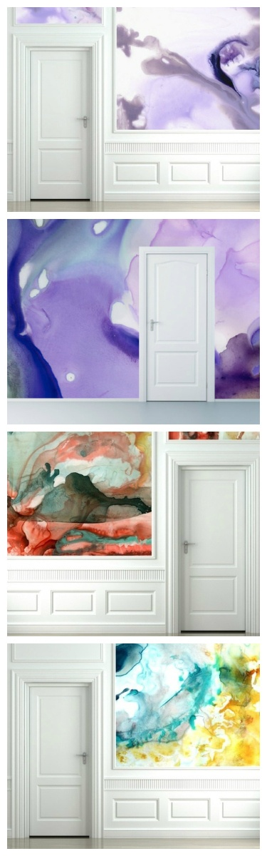 Watercolor Walls-- kind of looks like the Galaxy.... wonder how hard this is?