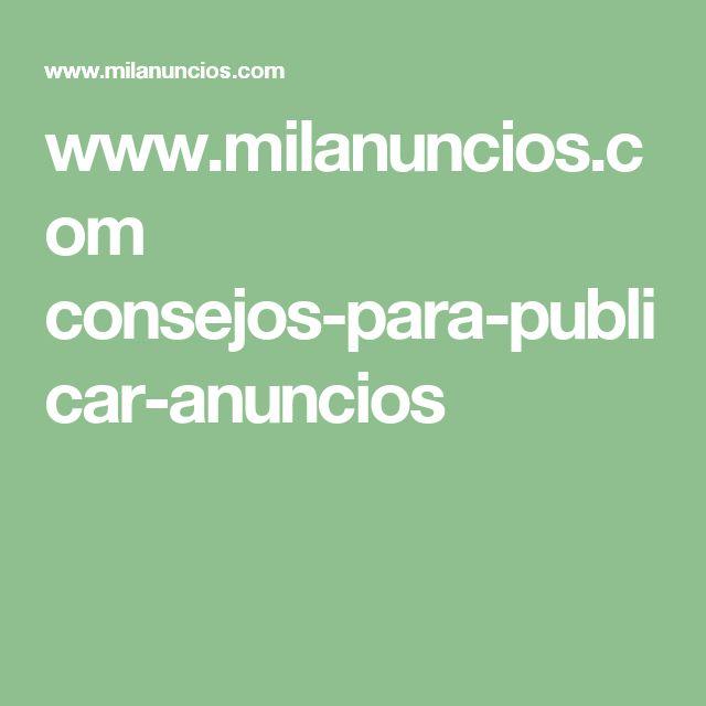 www.milanuncios.com consejos-para-publicar-anuncios