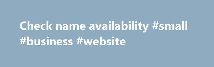 Name Availability Search - Business Services Online