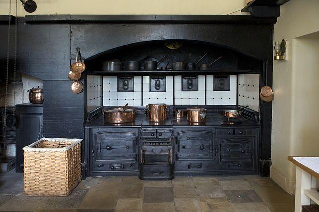 Victorian Cooking Range, Copper Utensils