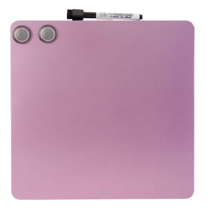 Quartet Cubes Magnetic Pink Board 290x290mm   Officeworks