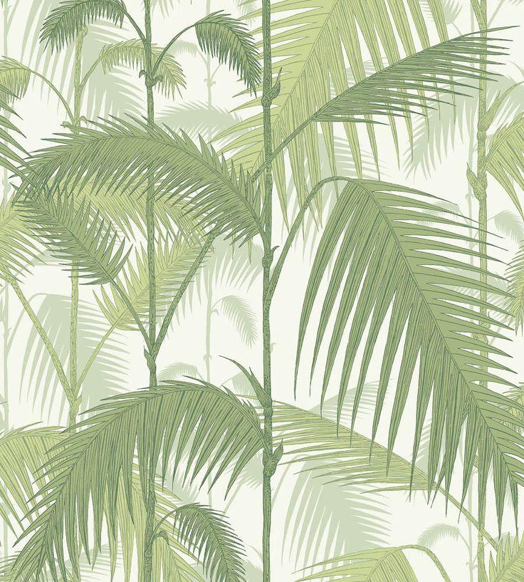 Papel pintado palmeras selva verde | telas & papel