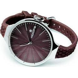 Hoops Cherie L Silver Case Brown Rubber strap 2502L18