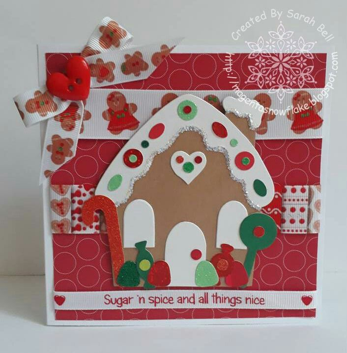 Designed by Sarah Bell using Gingerbread House Collection Ribbon by Crafty Ribbons