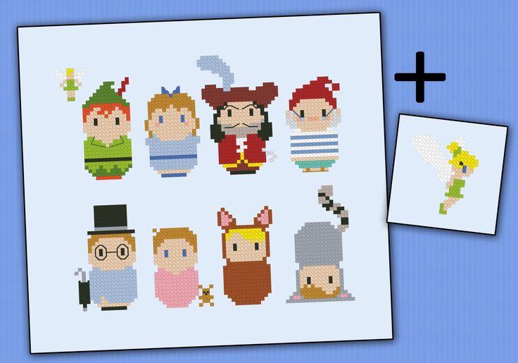 peter pan cross stitch pattern - Google Search
