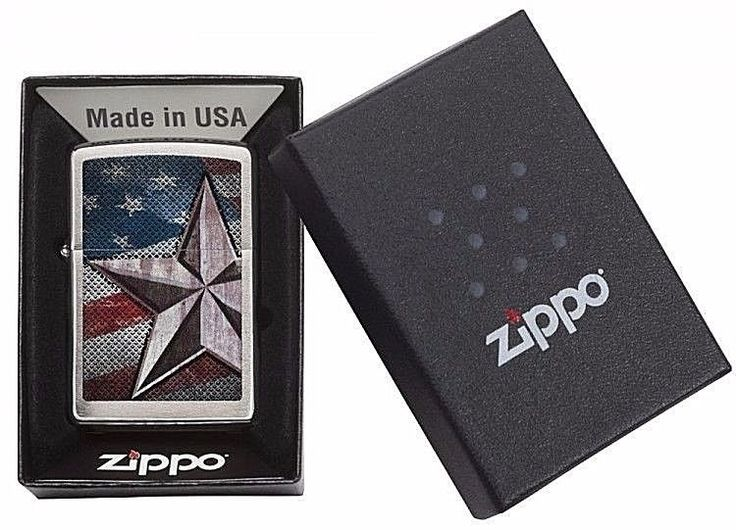 Windproof Zippo Original Classic Pocket Lighter With American Flag&Free Shipping #Zippo