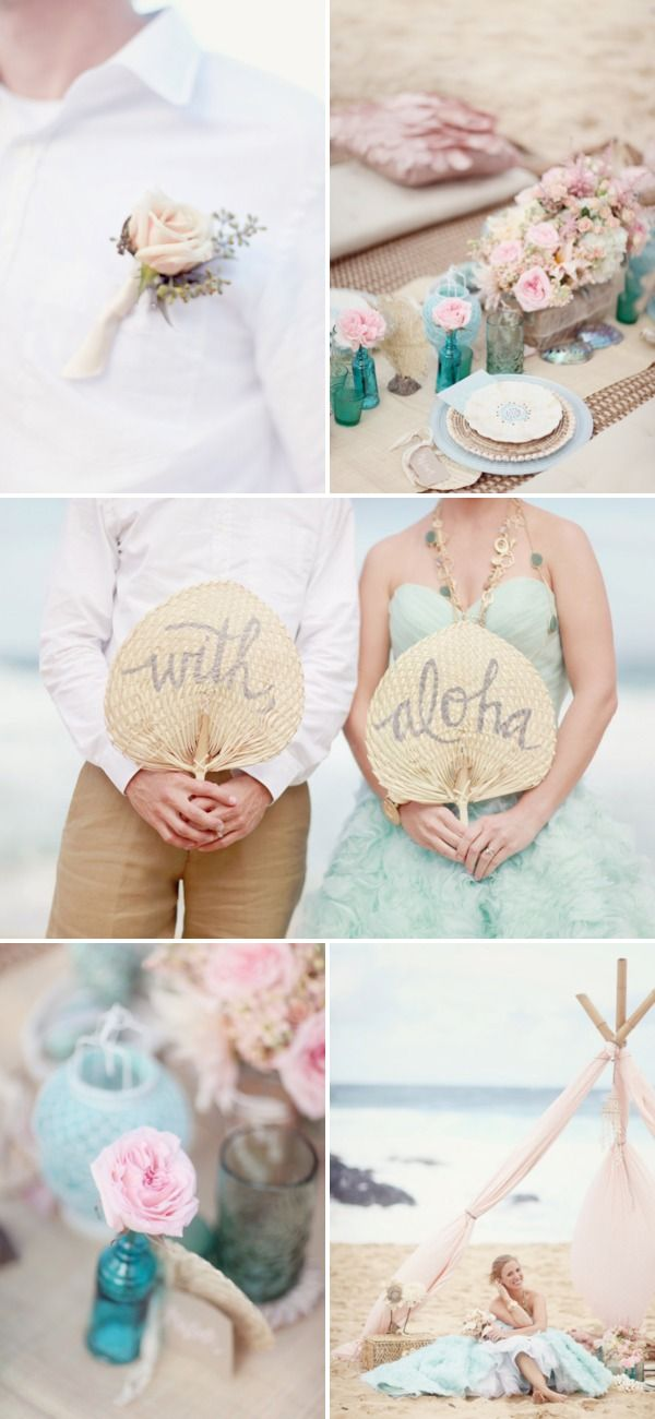 Oahu Beach Inspiration Photo Shoot by La Fleur Weddings + Simply Bloom Photography