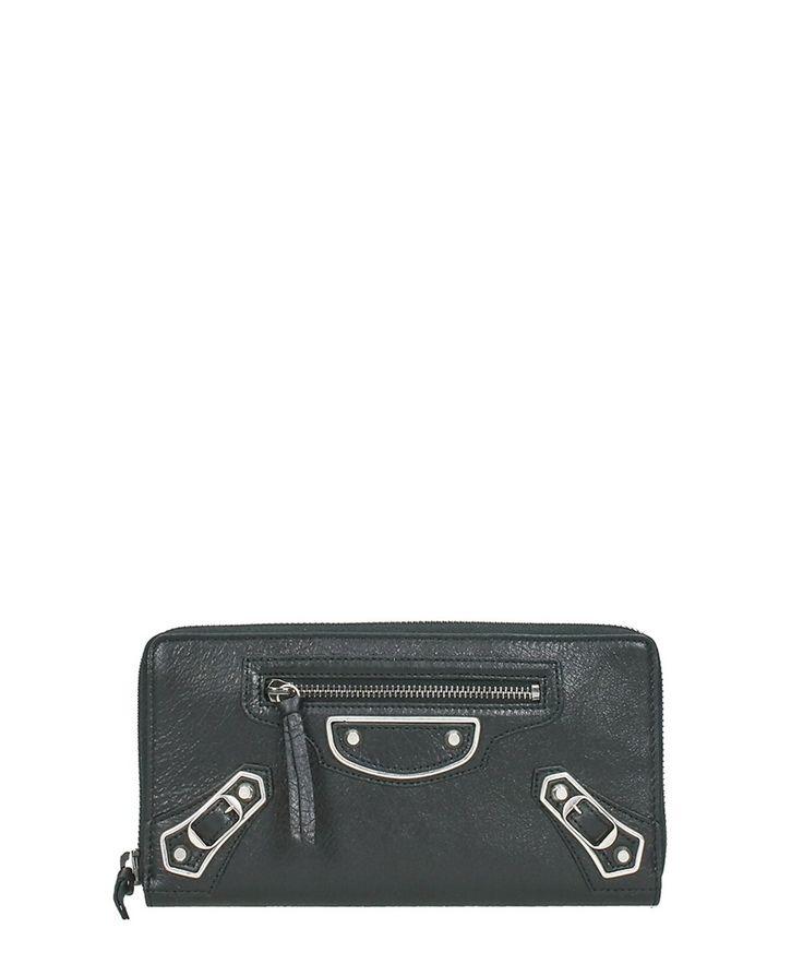 BALENCIAGA Balenciaga Women'S  Black Leather Wallet'. #balenciaga #wallets