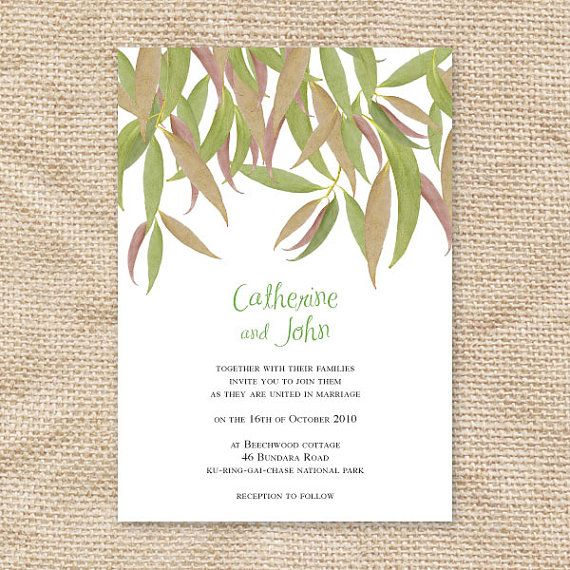 7 best citizenship party images on pinterest citizenship american gum leaf printable wedding invitation suite leaves eucalyptus green outdoor nature trees forest bush rustic rsvp insert set australian diy solutioingenieria Image collections
