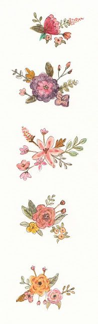 FLOWER FLOWER: pretty flowers with watercolor/ cat air bunga/꽃그려보...