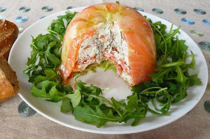 Charlotte saumon et concombre