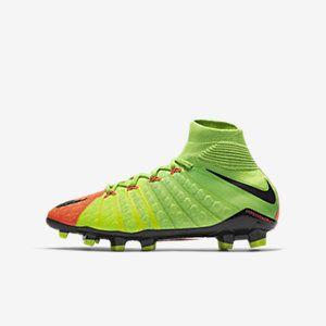 Nike Hypervenom Phantom 3 DF FG Little/Big Kids' Firm-Ground Soccer Cleats  Size (Green) - Clearance Sale