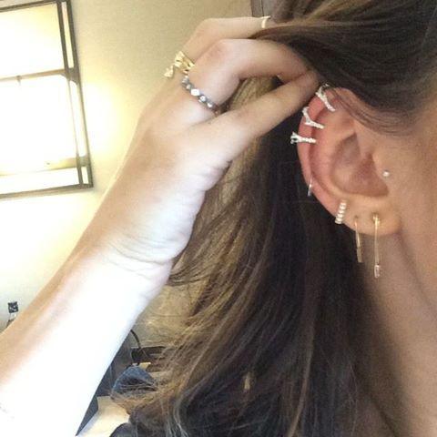 Lucy Hale's ear piercings