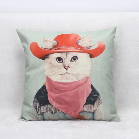 Unique animal cushion covers. Choose from covers with a lion, koala, giraffe, walrus, cat or llama, everyone is our favourite,