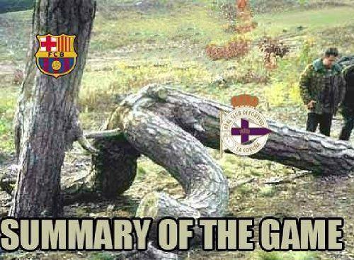 To zrobiła FC Barcelona z Deportivo La Coruna w Liga BBVA • Podsumowanie meczu Deportivo vs FC Barcelona • Wejdź i zobacz mem >> #football #soccer #sports #pilkanozna