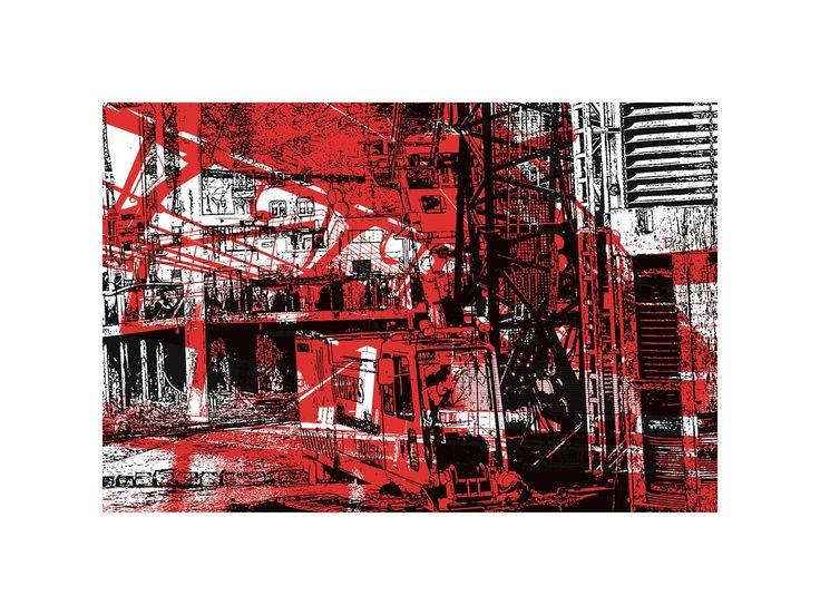 Hilly van Eerten - 'Bouwen in de Stad1.' -grafiek in digitale print