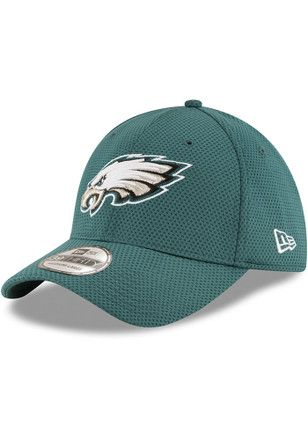 New Era Philadelphia Eagles Mens Green Sideline Tech 39THIRTY Flex Hat