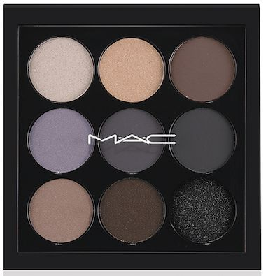 Eyes on MAC Eyeshadow X9 Palette in Navy; I love these smoky colors!