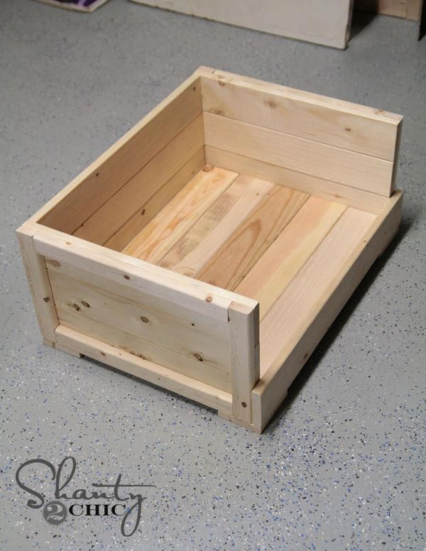 Wood Dog Bed Or nesting box  Using 2x4 for floor and furring