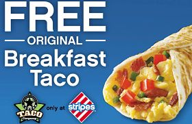 Stripes Stores: FREE Breakfast Taco Coupon! (Select States) Read more at http://www.stewardofsavings.com/2013/12/stripes-stores-free-breakfast-taco.html#RBXwQBp1xPbo9fbU.99