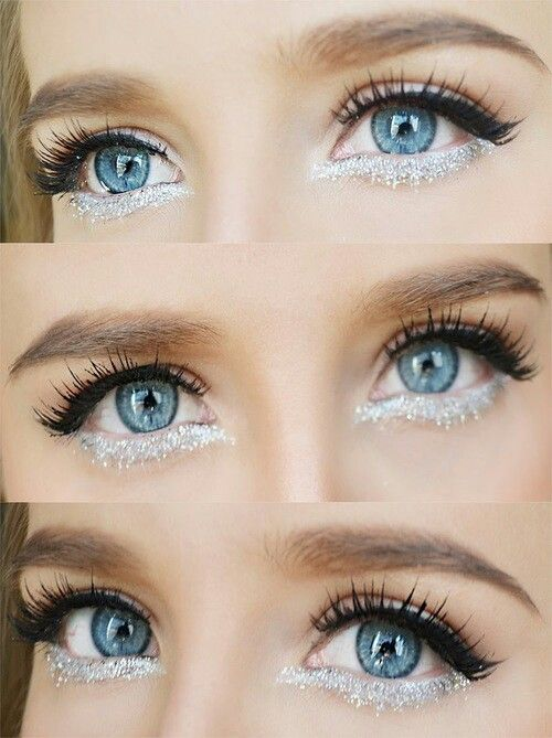 Eye Makeup w/ glitter underliner