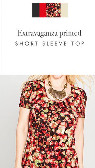 Extravaganza Short Sleeve Printed Top - Kim & Co