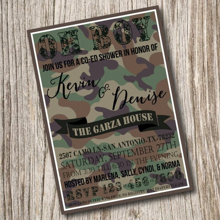 Military Themed Baby Shower Invitations