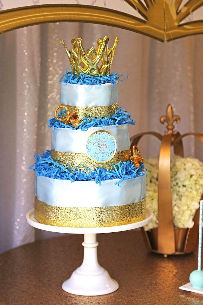 Decorative Cake From A Royal Prince Baby Shower On Karau0027s Party Ideas |  KarasPartyIdeas.com