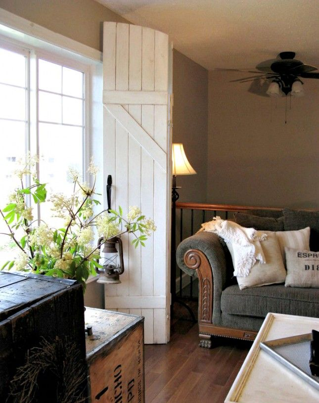 I like this cottage idea. Dress Your Windows With These 19 Curtain Alternatives via Brit + Co.