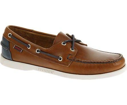 Sebago Zapato de barco Docksides Crest para hombre, Beige Nubuck, US 12 M