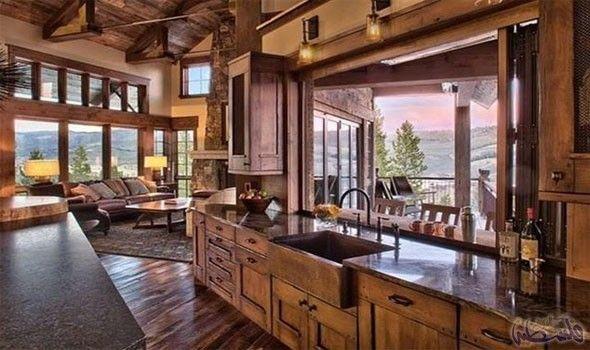 أفكار ممي زة لتصميم مطبخ مفتوح على غرفة الجلوس المطبخ هو قلب منزلك حيث تتجمع العائلة بأكملها لتناول الطعام وتحضيره أيض Rustic House Ranch House House Design
