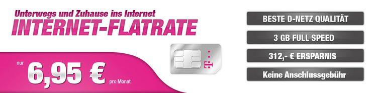 Telekom Internet Flat mit 3GB Datenvolumen