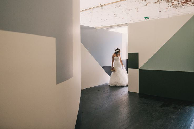 Ange & Dave's Wedding Ceremony - Image Todd Hunter McGraw, Location & Props : The Establishment Studios (Warehouse Entrance)