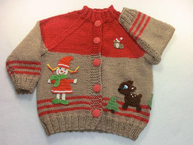 Jacken - Babyjacke gestrickt Größe 86/92 Wichtelmädchen - ein Designerstück von Juttas-ZauberStrick bei DaWanda