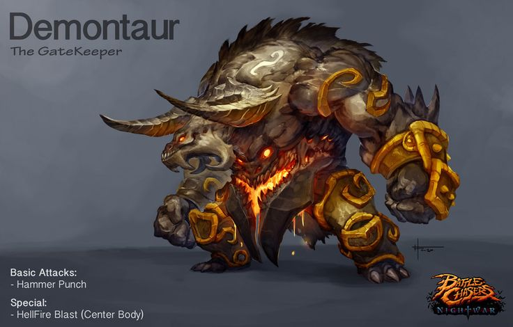 Demontaur- Battle Chasers creature contest by thiago-almeida.deviantart.com on @DeviantArt