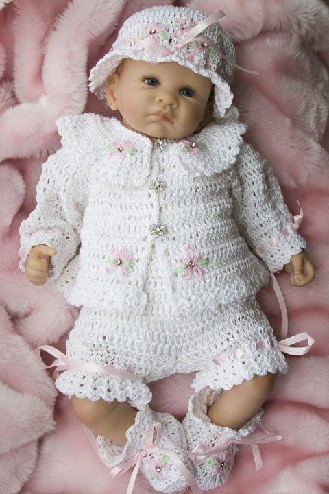 Cheryls haak CC47-Sweet Dasiy Baby Layette 0-3 maanden patroon PDF