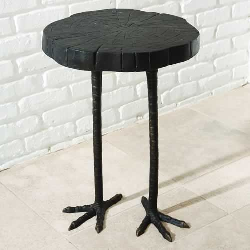 Bird leg table.: Side Tables, View Ostriches, Guest Bedrooms, Ostriches Tables, Chicken Legs, End Tables, Buy Global, Accent Tables, Global View