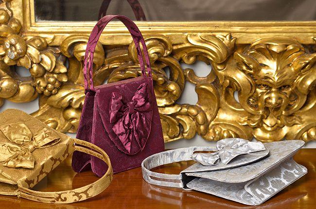 """L'Insolente"" bag in Rubelli silk brocades   http://store.leschaussonsdelabelle.com"