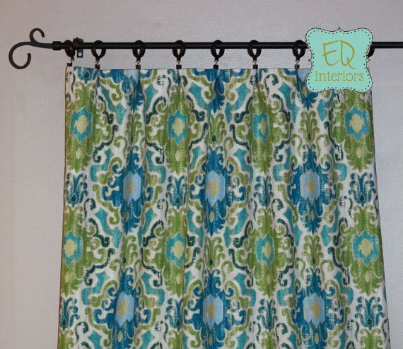 custom designer drapes swavelle mill creek toroli berwick damask ikat curtain panels damask draperies modern curtains
