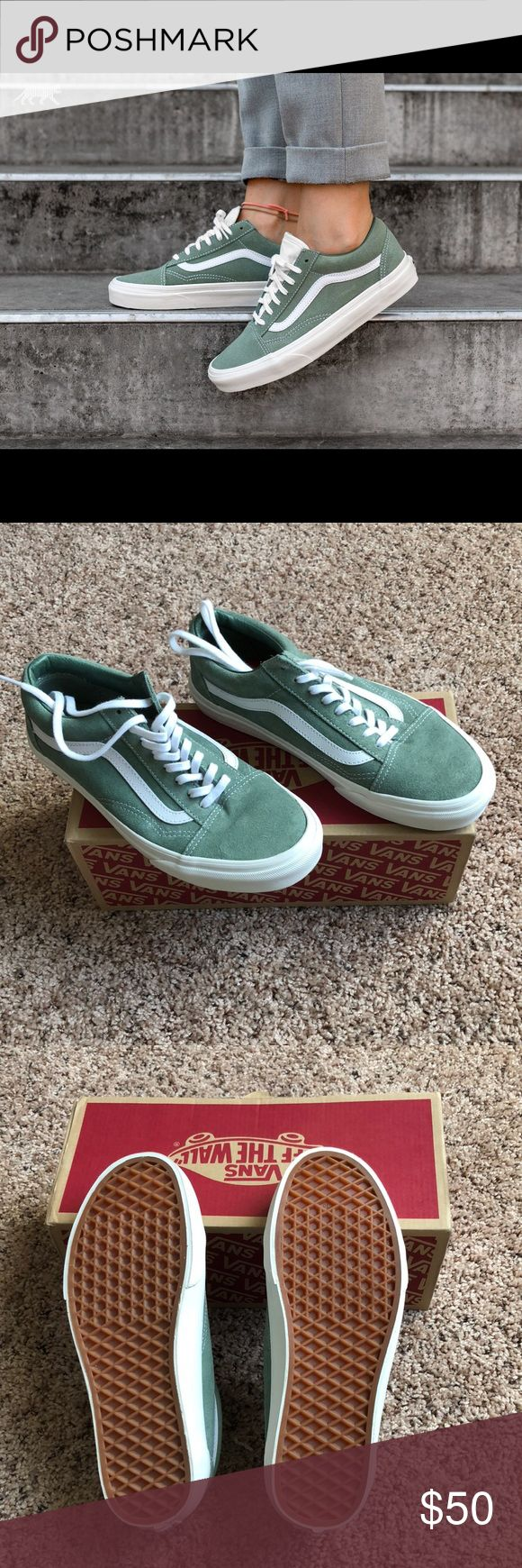 ⭐️SALE⭐️ Old Skool Vans NWT!!!! Bought online. I thought I was buying a size 7 women's....turns out they're a size 7 men's, size 8.5 women's. Never been worn, comes with box. Great color! Vans Shoes Sneakers